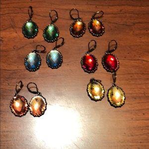 Set of 6 Joan rivers lever back earrings